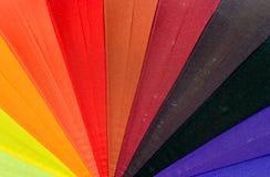 Closeup colourfull umbrella Royalty Free Stock Photo