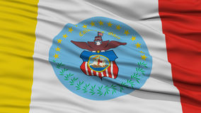 Closeup Columbus Flag. Capital of Ohio State, Flying in the Wind Royalty Free Stock Photos