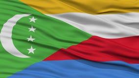 Closeup Comoros Flag Royalty Free Stock Photos