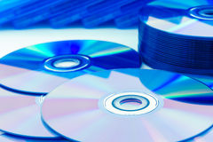 Closeup compact discs (CD/DVD) Stock Images