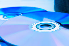 Closeup compact discs (CD/DVD) Royalty Free Stock Images