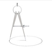 Closeup Compass Drawing Royalty Free Stock Images