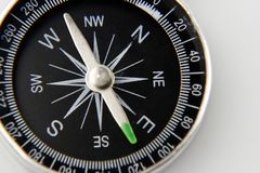 Closeup of compass. On plain background Royalty Free Stock Photography