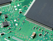 Closeup of computer circuit board Royalty Free Stock Image