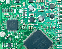 Closeup of computer circuit board Stock Photos