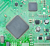 Closeup of computer circuit board Stock Photography
