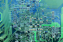 Closeup of computer circuit board Royalty Free Stock Photography