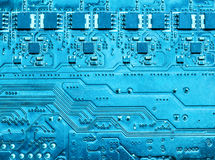 Closeup of computer circuit board. Closeup of computer micro circuit board Royalty Free Stock Image