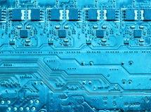 Closeup of computer circuit board Royalty Free Stock Image