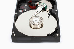 Closeup computer hard disk. Royalty Free Stock Images