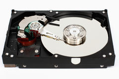 Closeup computer hard disk. Royalty Free Stock Image