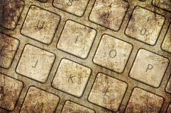 Grunge keyboard Stock Image