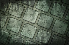 Grunge keyboard Stock Photography