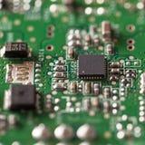 Closeup of computer parts stock image