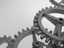 Closeup concept of steel cogwheel / transmission Stock Photo