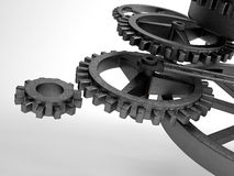 Closeup concept of steel cogwheel / transmission Stock Photography