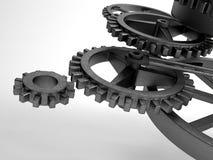Closeup concept of steel cogwheel / transmission Stock Photography