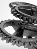 Closeup concept of steel cogwheel / transmission Royalty Free Stock Photo