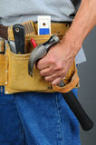 Closeup Contractor Tool Belt Stock Images