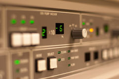 Closeup of the control panel Stock Photography