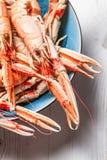 Closeup of cooked scampi pincers Stock Photos