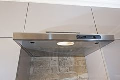 Closeup of cooker hood in kitchen Stock Image