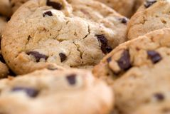 Closeup of cookies Stock Images