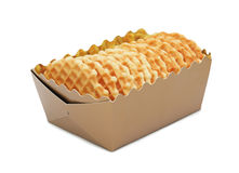 Closeup of a cookies in a box, isolated Stock Images
