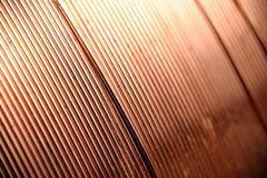 Closeup copper wire Stock Photography
