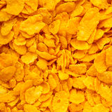 Closeup of corn flakes breakfast morning meal as food background Royalty Free Stock Photo