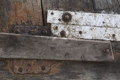 Weathered wood and corroded metal Royalty Free Stock Photos