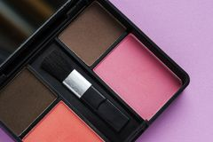 Closeup of cosmetic make up set Royalty Free Stock Image
