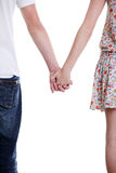 Closeup on couple holding hands. Stock Photography