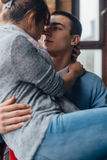 Closeup of couple hugging Royalty Free Stock Photography