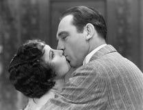Closeup of couple kissing Stock Photography