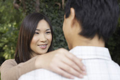 Closeup Of Couple Looking At Each Other Stock Image