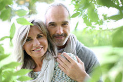 Closeup of couple in nature Stock Photos