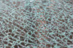 Closeup of crack glass Stock Image