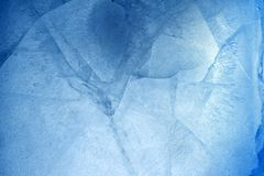 Cracked ice. Closeup of cracked blue ice Royalty Free Stock Photo