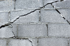 Cracked brick wall Stock Photo