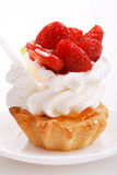 Closeup of cream. And strawberries topping Stock Image