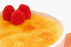 Closeup of creme brulee Royalty Free Stock Photography
