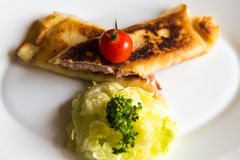 Closeup crepes on a plate Stock Images