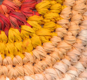 Closeup of crochet rag rug Stock Image