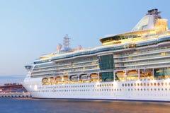 Closeup Cruise Ship stock image