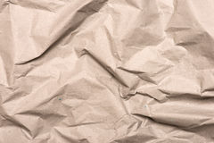 Closeup of crumpled Kraft paper. 14 Stock Image