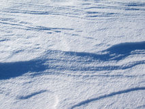 Closeup Crusty Snow Drift Pattern Royalty Free Stock Photos