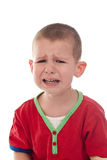 Closeup of a crying boy Stock Images