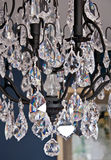 Closeup of Crystal Chandelier Stock Image