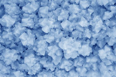Closeup of crystallization minerals in a popular science exhibit Royalty Free Stock Photo